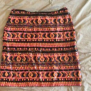 ASOS beaded mini skirt